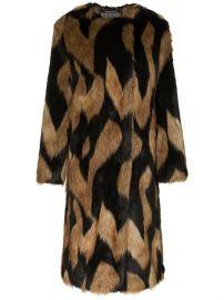 Givenchy Oversized Faux Fur Coat - Farfetch at Farfetch