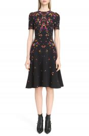 Givenchy Pansy Print Stretch Cady Dress at Nordstrom
