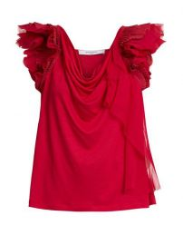 Givenchy Ruffle-trimmed Jersey Top at Matches