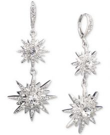 Givenchy Silver-Tone Crystal Star Double Drop Earrings   Reviews - Fashion Jewelry - Jewelry   Watches - Macy s at Macys