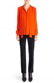 Givenchy Tie Neck Silk Blouse at Nordstrom