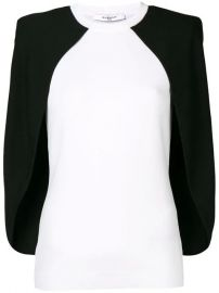 Givenchy Two Tone Cape Blouse - Farfetch at Farfetch