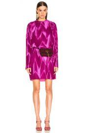 Givenchy Zig Zag Dress in Orchid   FWRD at Forward