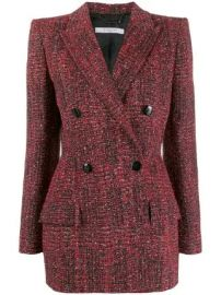 Givenchy double-breasted tweed jacket double-breasted tweed jacket at Farfetch