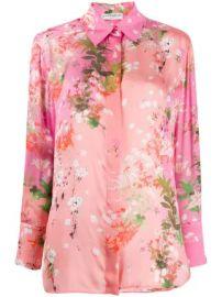 Givenchy floral print long-sleeved shirt floral print long-sleeved shirt at Farfetch
