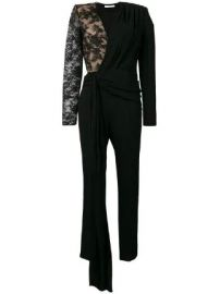 Givenchy lace draped detailed jumpsuit at Farfetch