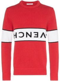 Givenchy upside-down Logo Intarsia Jumper - Farfetch at Farfetch