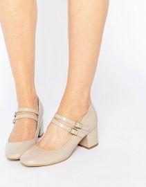 Glamorous Double Strap Mary Jane Mid Heeled Shoes at Asos