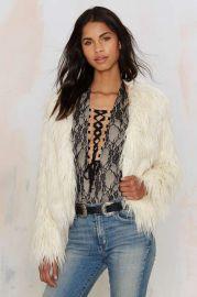 Glamorous Jessie Faux Fur Jacket at Nasty Gal