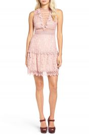 Glamorous Lace Fit   Flare Dress at Nordstrom