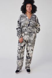 Glitch Jumpsuit in Black Chatter Viscose Lino at Rachel Comey
