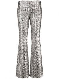 Glitter Effect Flared Trousers by Michael Kors Collection at Farfetch
