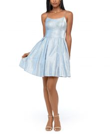 Glitter Fit & Flare Dress by Betsy & Adam at Macys