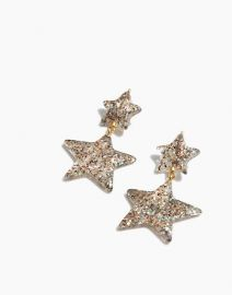 Glitter Star Statement Earrings at Madwell