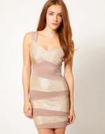 Glittery bandage dress from ASOS at Asos