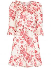 Gloria Floral-Print Mini dress by The Vampires Wife at Farfetch