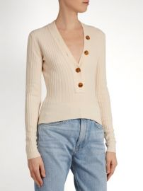 Gloria V-neck Ribbed Knit Sweater by Khaite at Matches
