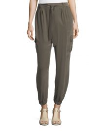 Go Silk Belted Silk Cargo Pants at Neiman Marcus
