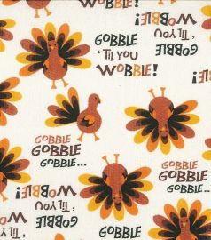 Gobble til you wobble fabric at eBay