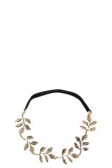 Gold Leaf Headband at Boohoo