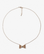 Gold bow necklace like Roses at Forever 21