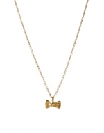 Gold bow necklace like Roses at Asos