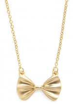 Gold bow necklace like Roses at Modcloth