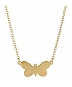 Gold butterfly necklace at Max & Chloe