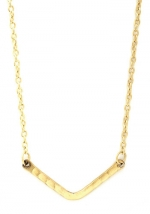 Gold chevron bar necklace at Modcloth