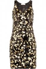 Gold dress by Michael Kors at Net A Porter