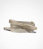 Gold glitter bow belt from Express at Express