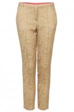Gold jacquard pants like Janes at Topshop