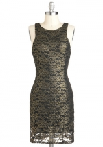 Gold lace dress like Carolines from Modcloth at Modcloth
