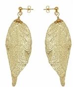 Gold leaf earrings like Arias at Max & Chloe