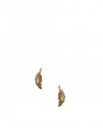 Gold leaf studs at ASOS at Asos