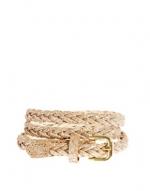 Gold plaited belt at Asos