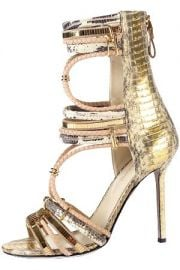 Gold sandals at Sergio Rossi