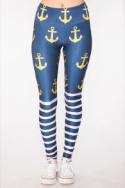 Golden Anchor Leggings by Gold Sheep at Gold Sheep Clothing