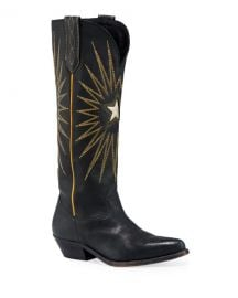 Golden Goose Wish Star Stitched Knee Boots at Neiman Marcus