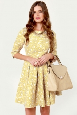 Golden yellow dress from Lulus at Lulus