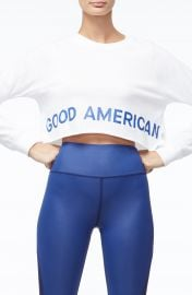 Good American Crop Sweatshirt  Regular  amp  Plus Size    Nordstrom at Nordstrom