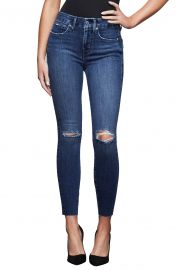 Good Legs High Waist Raw Edge Ankle Skinny Jeans at Nordstrom