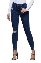 Good Waist Ripped Exposed Button Ankle Skinny Jeans at Nordstrom