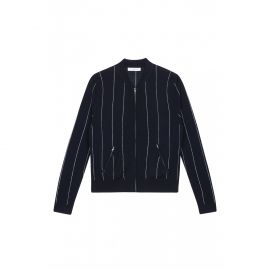 Gordon Baseball Stripe Cardigan at Sandro