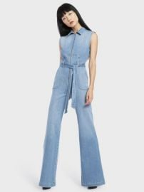 Gorgeous Sexy 70s Cropped Sleeveless Jumpsuit by Alice + Olivia at Alice + Olivia
