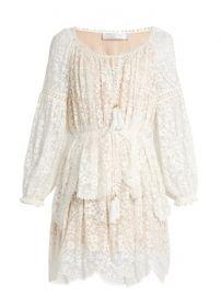Gossamer floral-embroidered silk dress at Matches