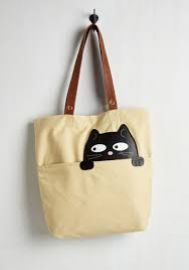 Got One Friend in My Pocket Tote in Black Cat at ModCloth