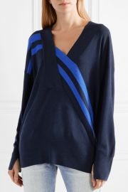 Grace wrap-effect merino wool sweater by Rag and Bone at Net A Porter
