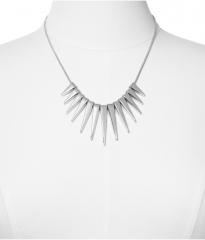 Graduated Spike Necklace at Express