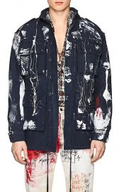 Graffiti Cotton Twill Field Jacket by Faith Connexion at Barneys Warehouse